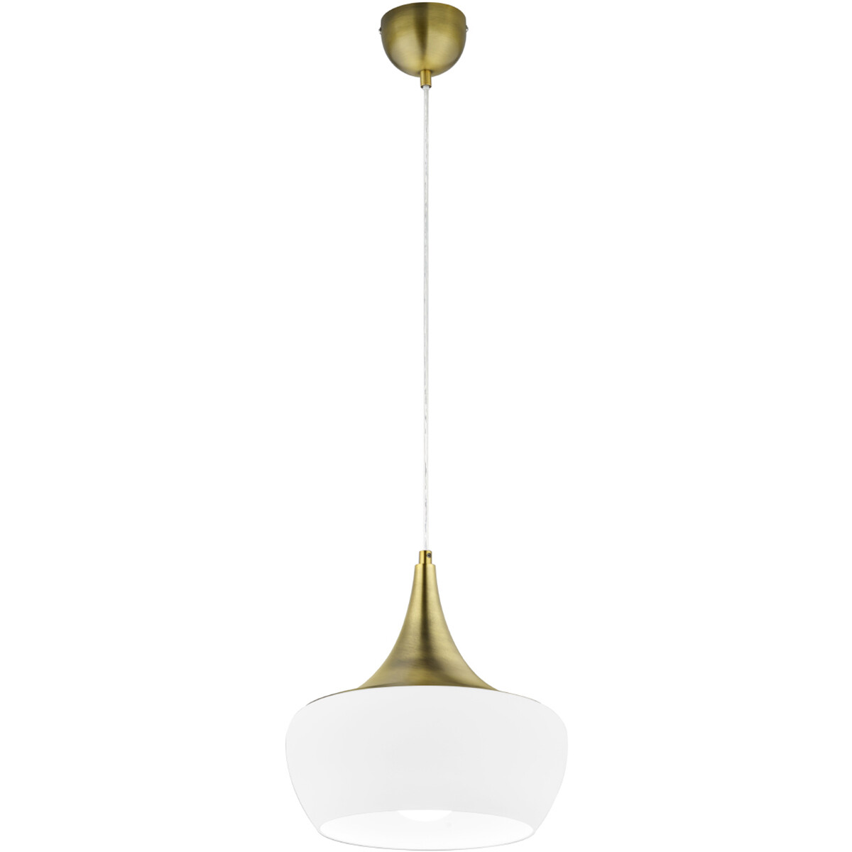 LED Hanglamp - Hangverlichting - Trion Trompo - E27 Fitting - 1-lichts - Rond - Oud Brons - Aluminiu