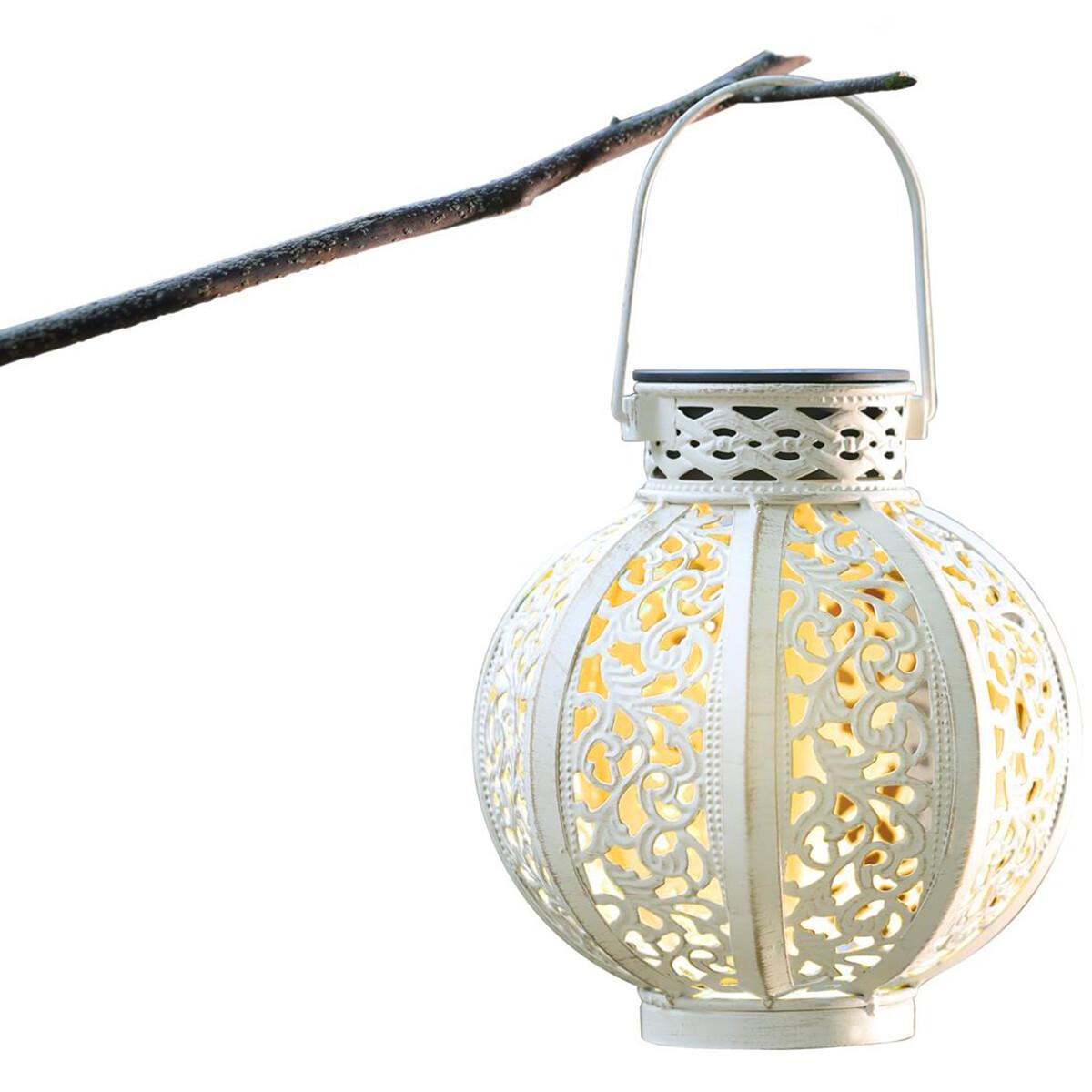 LED Hanglamp met Zonne-energie - Aigi Uki - 0.16W - Warm Wit 3000K - Mat Wit - Kunststof