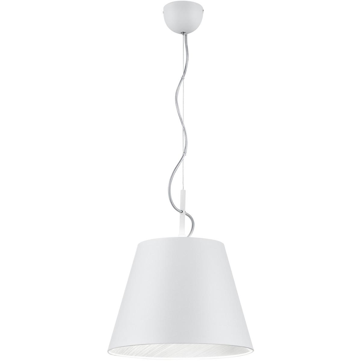 LED Hanglamp - Trion Andra - E27 Fitting - Rond - Mat Wit - Aluminium