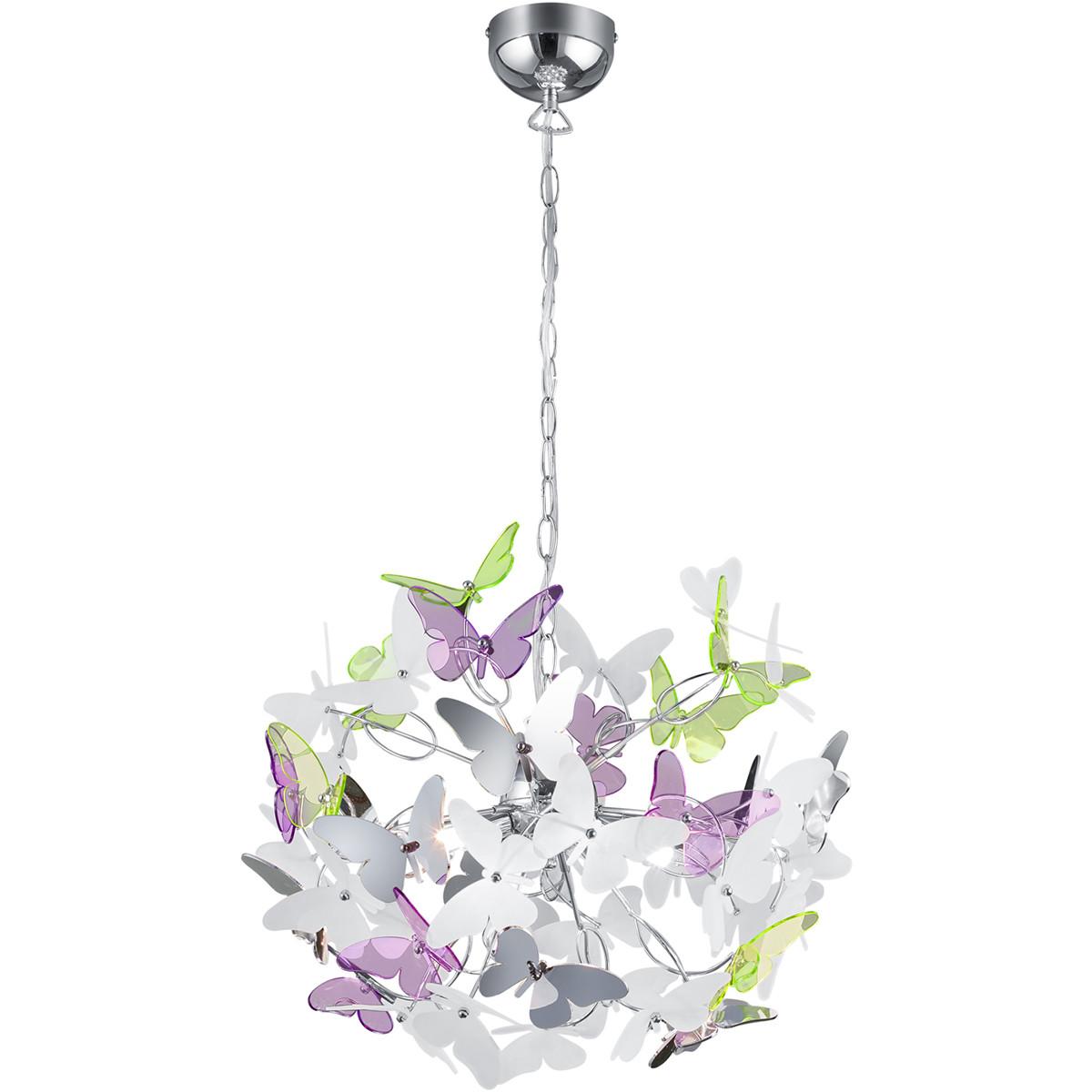 LED Hanglamp - Trion Baduli - G9 Fitting - 4-lichts - Rond - Glans Chroom - Aluminium