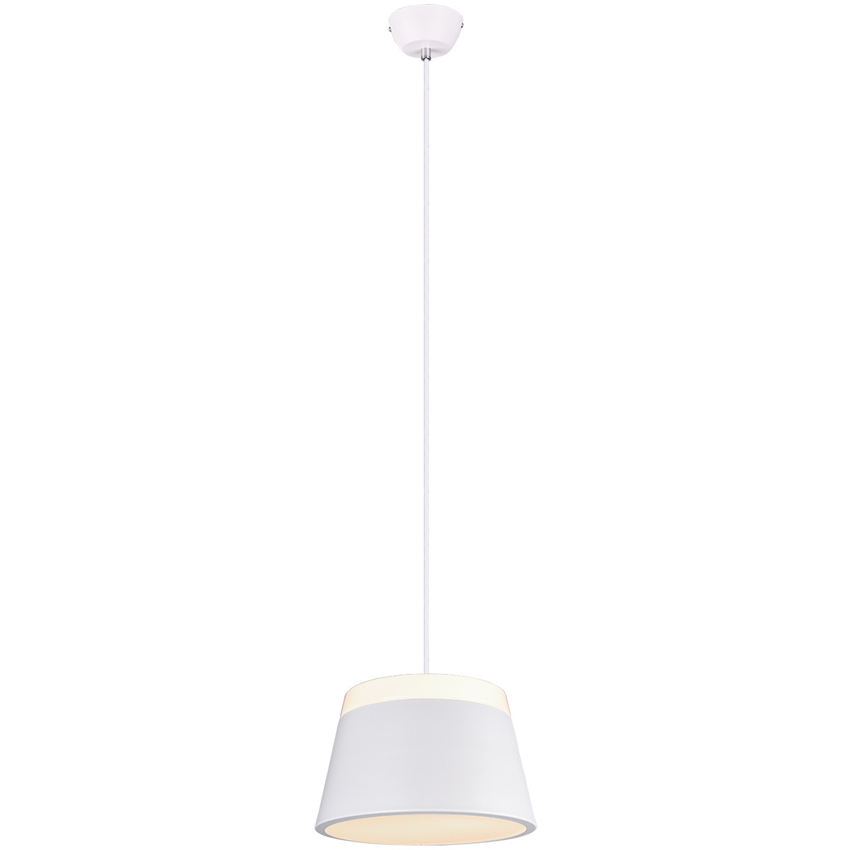 LED Hanglamp - Trion Barnaness - E27 Fitting - 2-lichts - Rond - Mat Wit - Aluminium