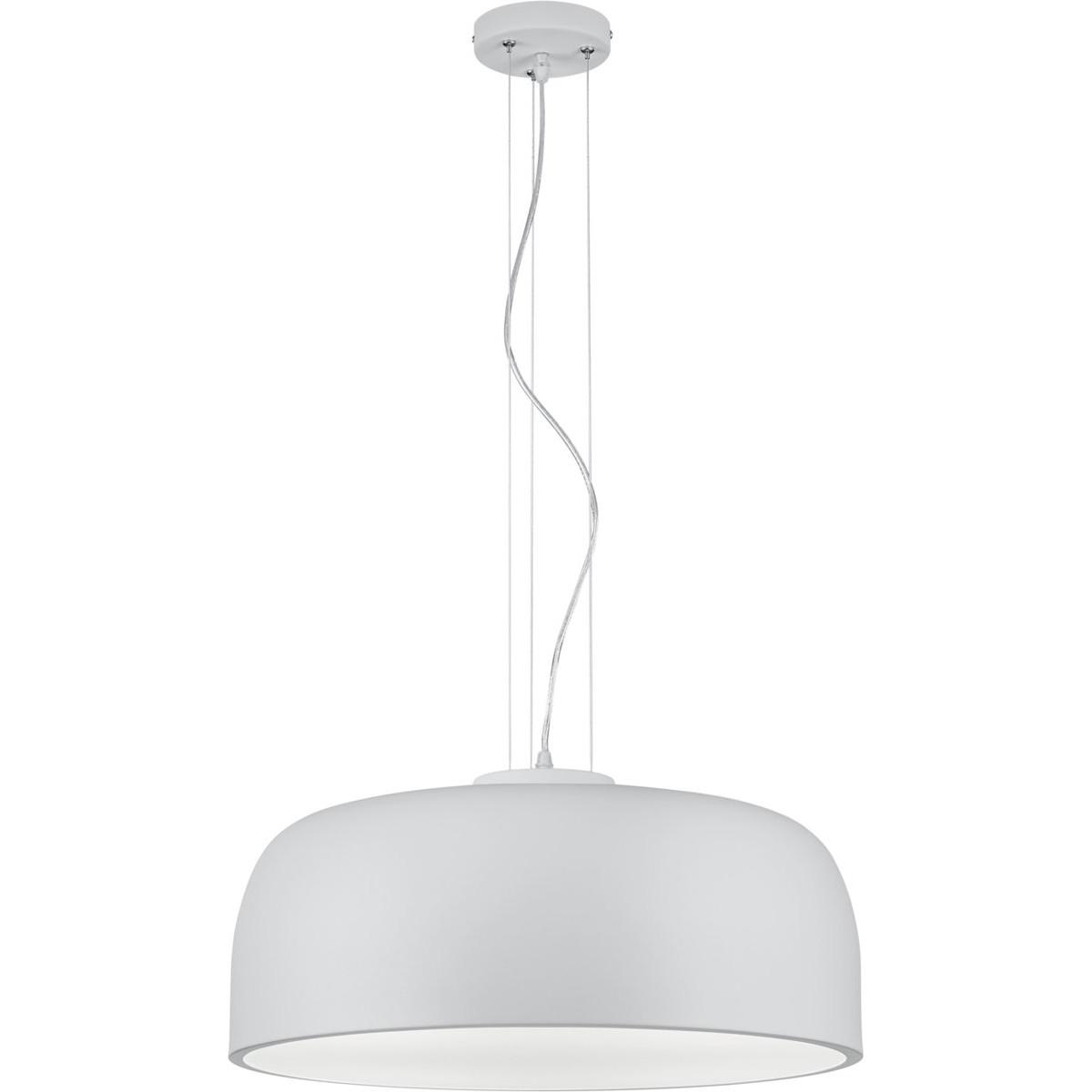 LED Hanglamp - Trion Barnon - E27 Fitting - 4-lichts - Rond - Mat Wit Aluminium