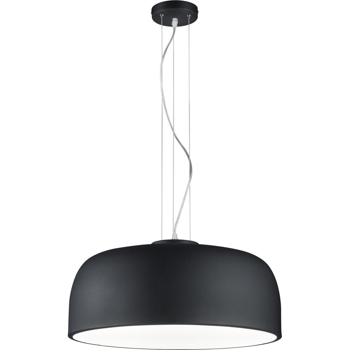 LED Hanglamp - Trion Barnon - E27 Fitting - 4-lichts - Rond - Mat Zwart Aluminium