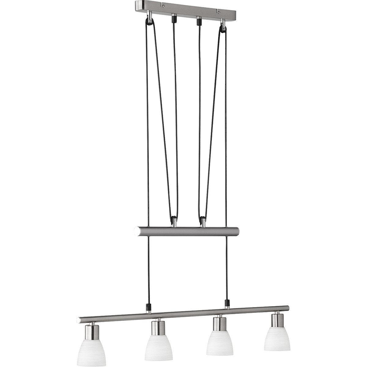LED Hanglamp - Trion Caru - 12W - G9 Fitting - Warm Wit 3000K - Dimbaar - Rechthoek - Mat Nikkel - A