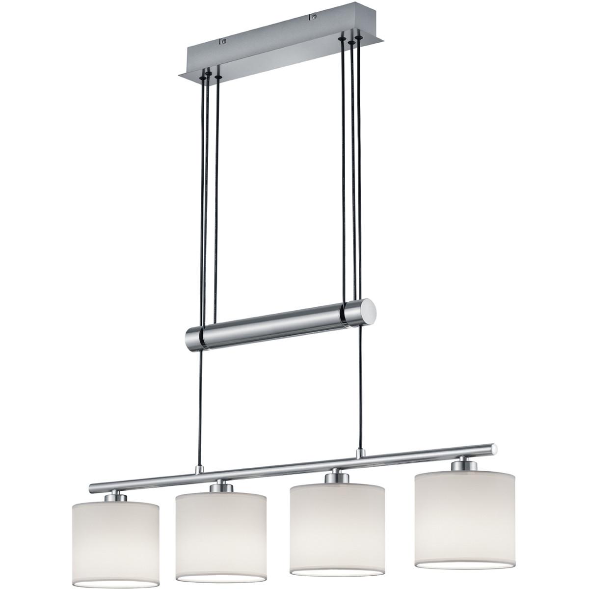 LED Hanglamp - Trion Gorino - E14 Fitting - 4-lichts - Rechthoek - Mat Wit - Aluminium