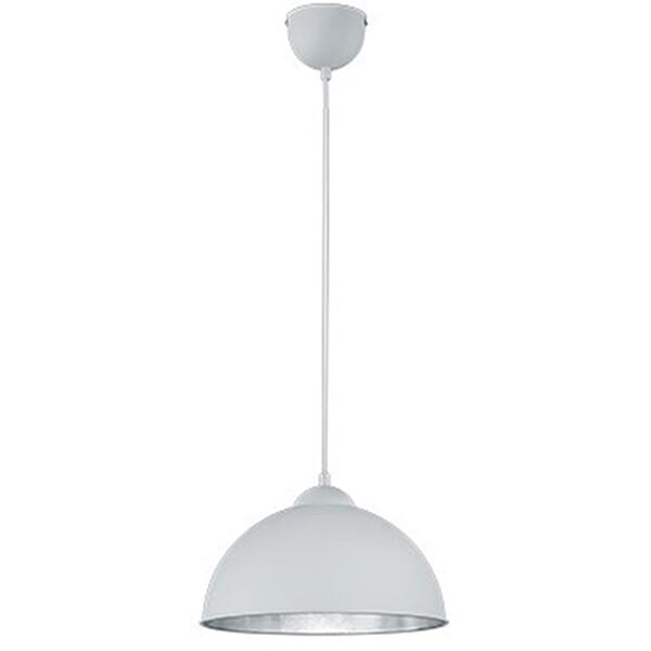 LED Hanglamp - Trion Jin - E27 Fitting - Rond - Mat Wit - Aluminium