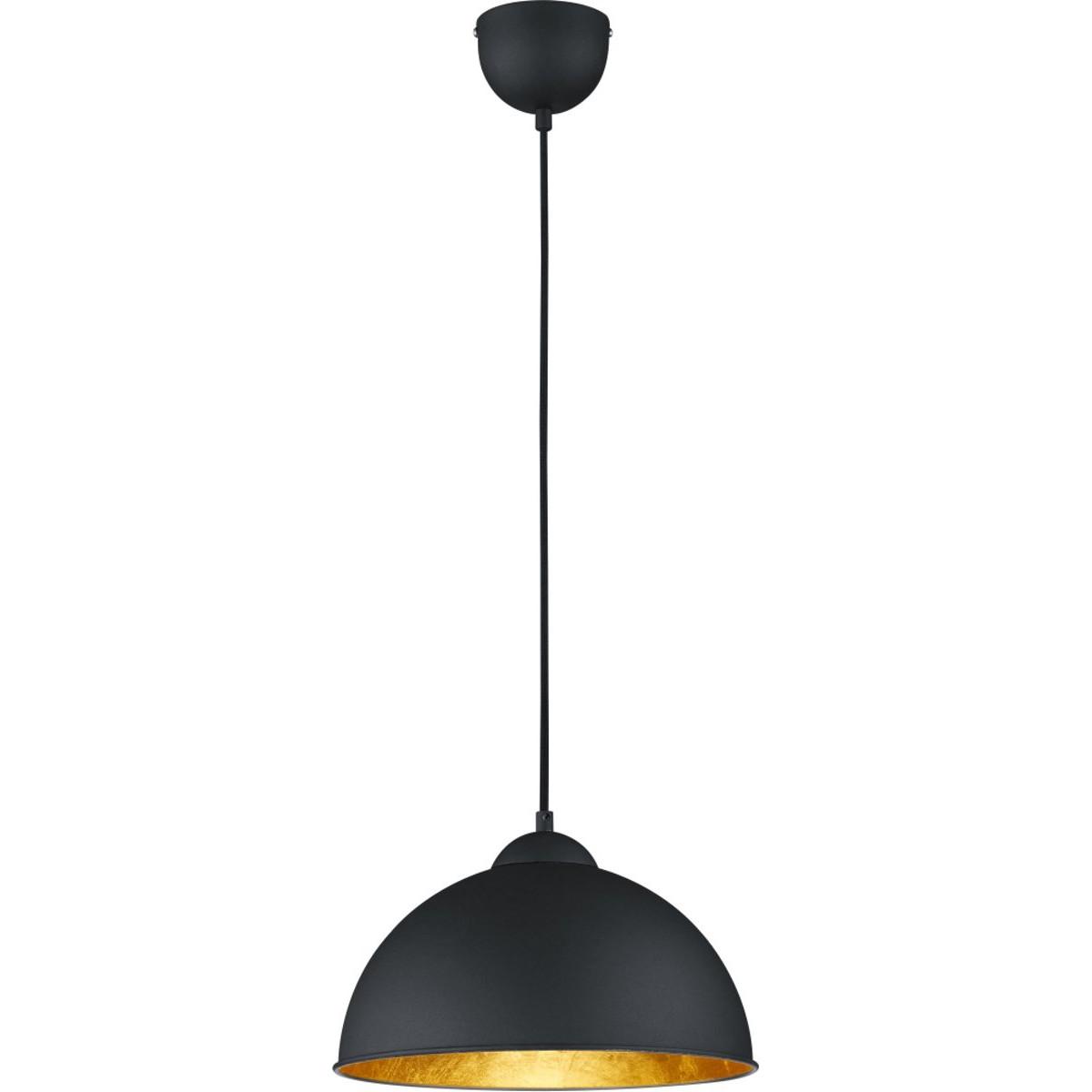 LED Hanglamp - Trion Jin - E27 Fitting - Rond - Mat Zwart Aluminium