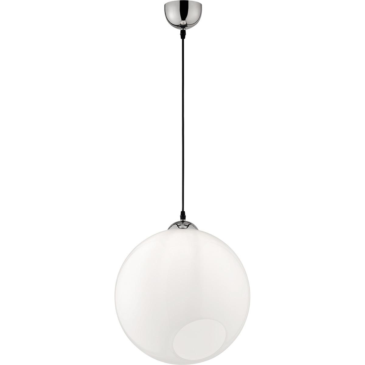 LED Hanglamp - Trion Klino XL - E27 Fitting - 1-lichts - Rond - Mat Chroom - Aluminium