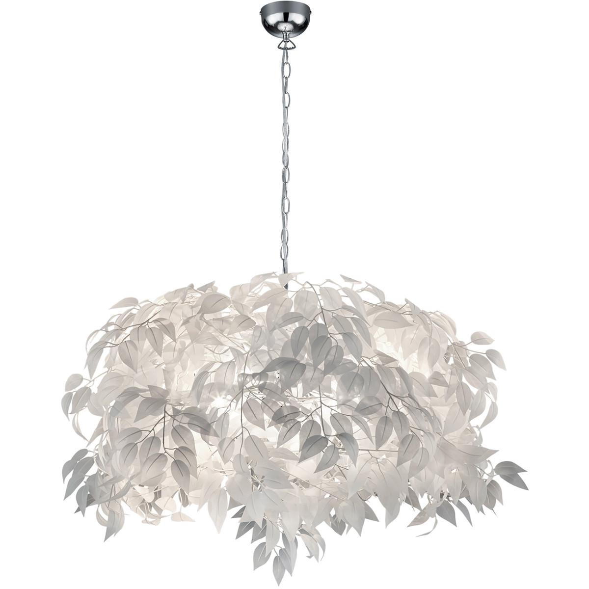 LED Hanglamp - Trion Lovy - E14 Fitting - 4-lichts - Rond - Glans Chroom Aluminium