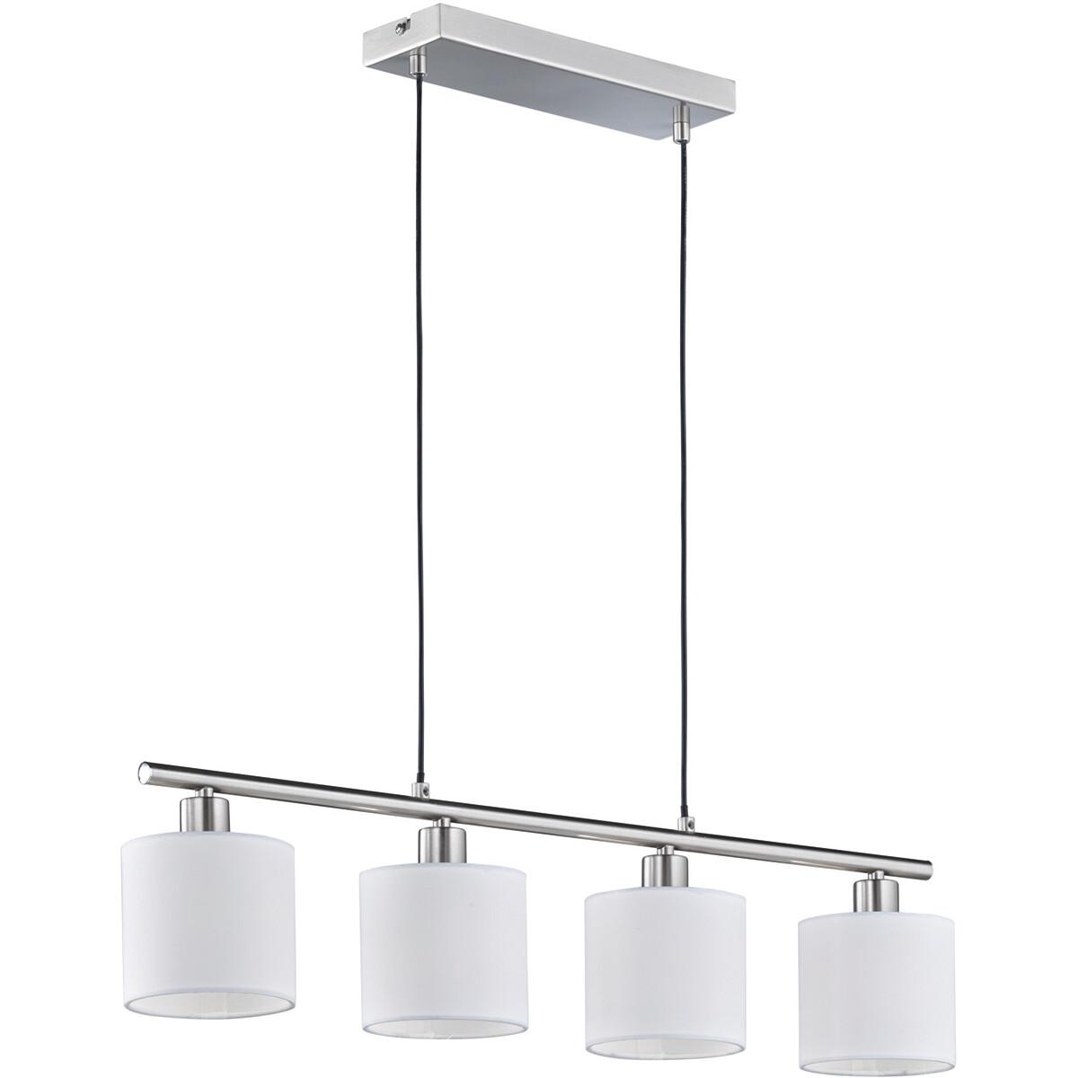 LED Hanglamp - Trion Torry - E14 Fitting - Rechthoek - Mat Nikkel - Aluminium