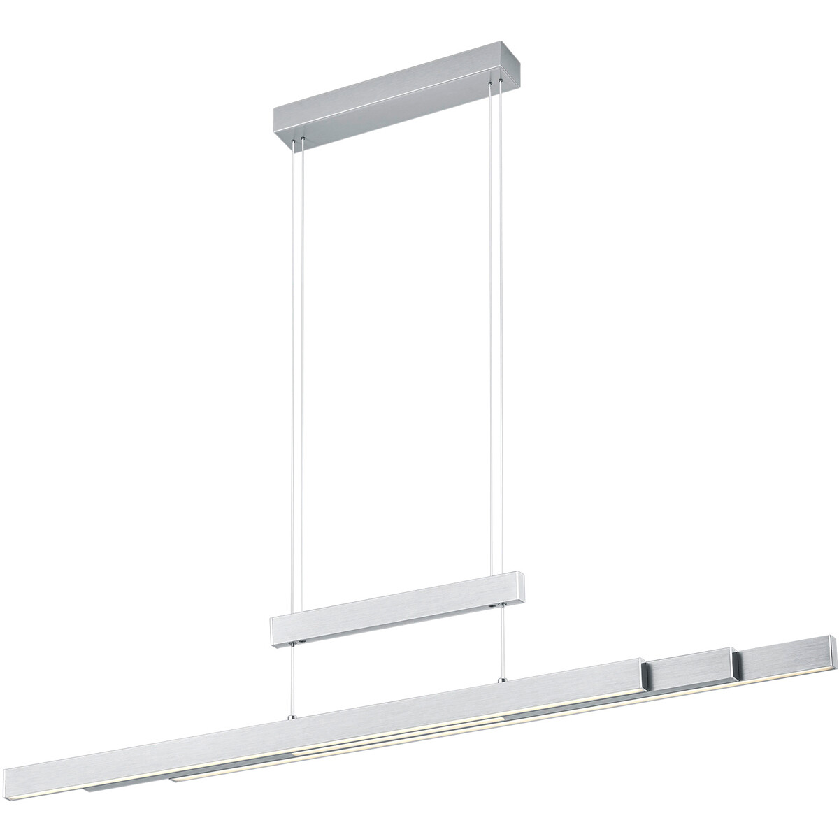 LED Hanglamp - Trion Trojan - 54W - Aanpasbare Kleur - Rechthoek - Mat Nikkel - Aluminium