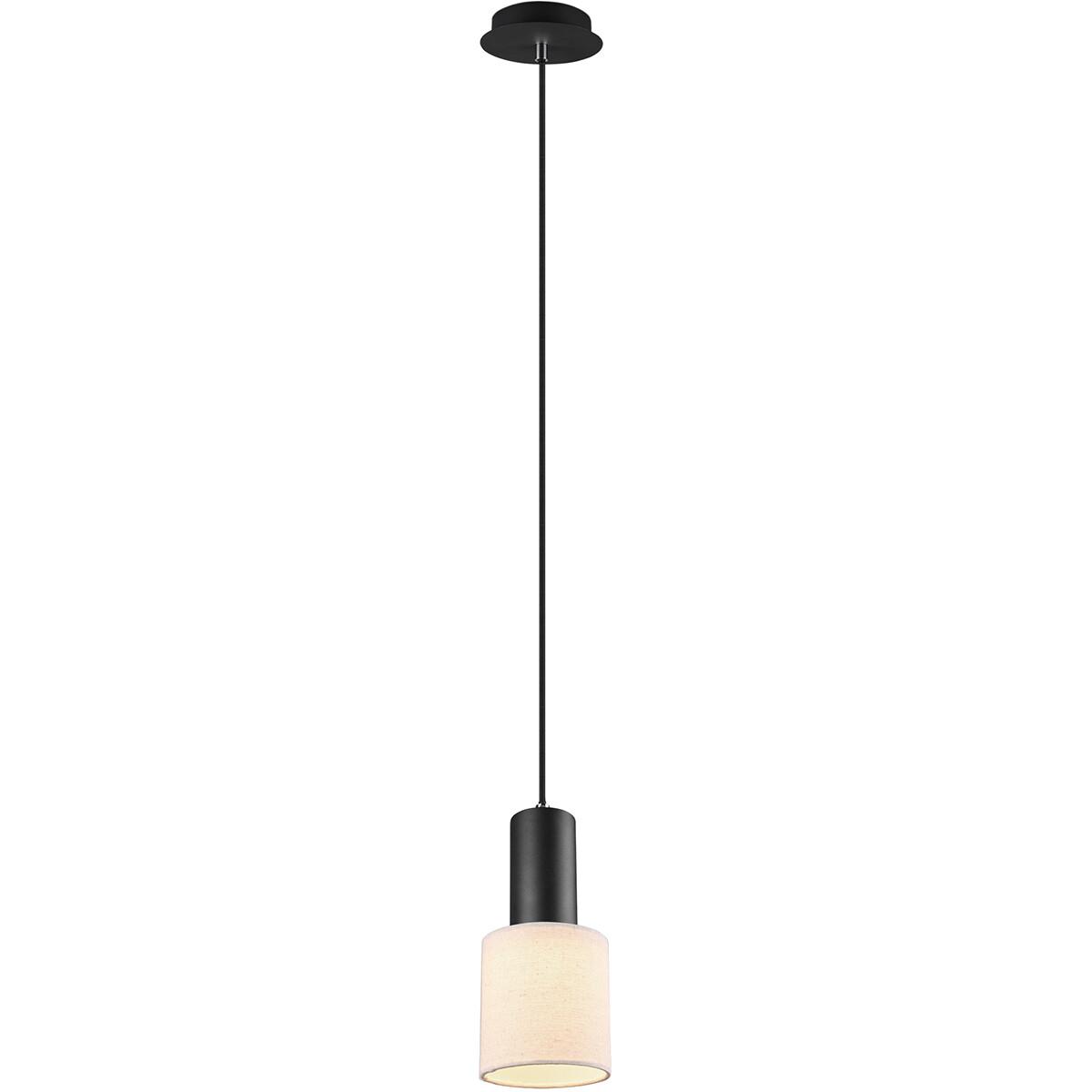 LED Hanglamp - Trion Waler - GU10 Fitting - 1-lichts - Rond - Mat Zwart - Aluminium