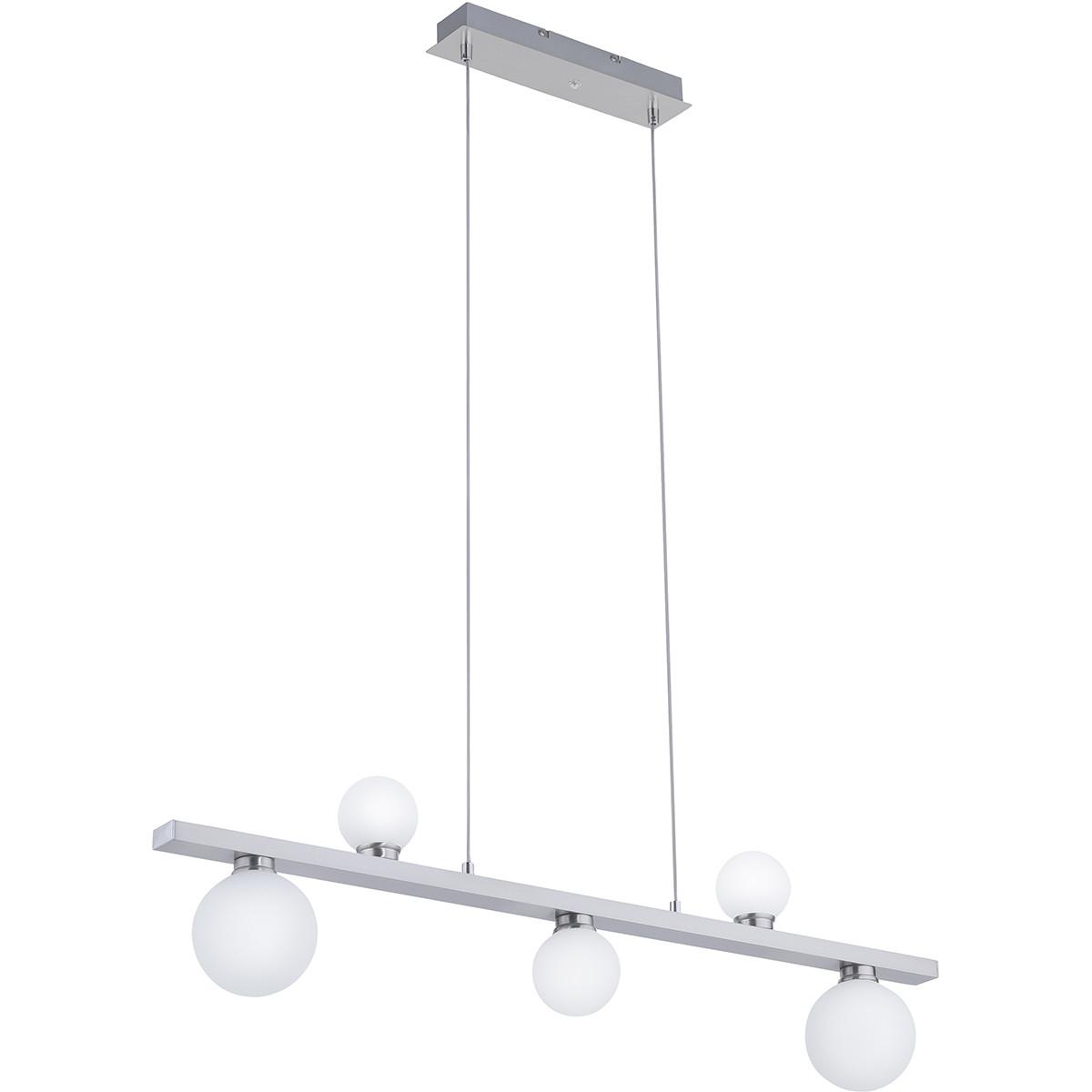 LED Hanglamp WiZ - Smart LED - Trion Dulpio - 15W - Aanpasbare Kleur - 5-lichts - Dimbaar - Rechthoe