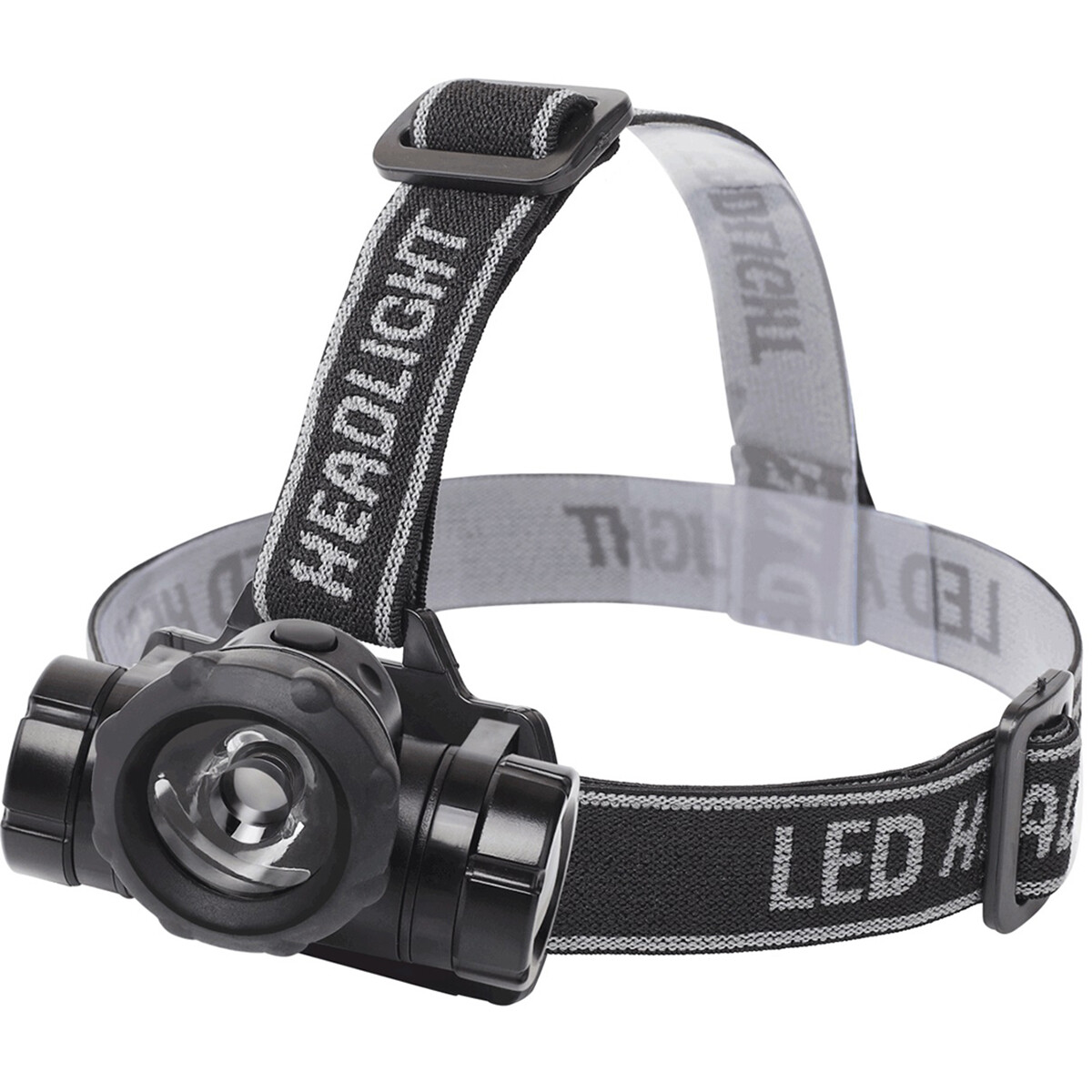 LED Hoofdlamp - Aigi Buvin - Waterdicht - 50 Meter - Kantelbaar - 1 LED - 1.8W - Zwart | Vervangt 10