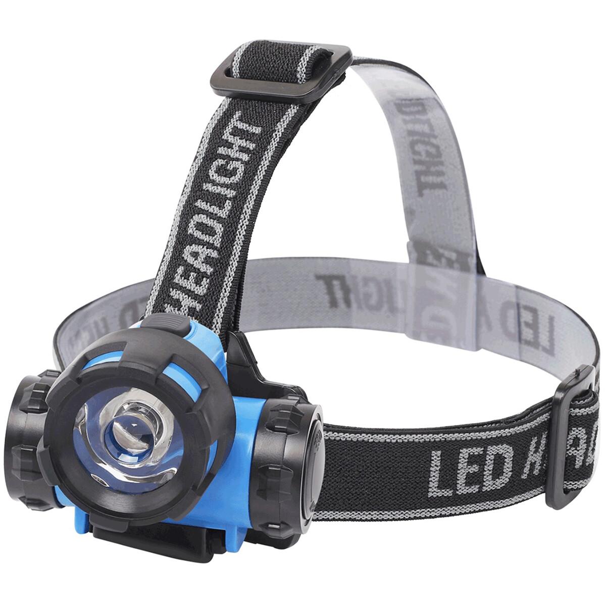 LED Hoofdlamp - Aigi Crunli - Waterdicht - 50 Meter - Kantelbaar - 1 LED - 0.8W - Blauw | Vervangt 7