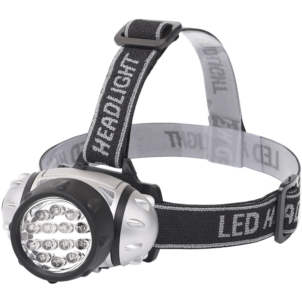 LED Hoofdlamp - Aigi Heady - Waterdicht - 35 Meter - Kantelbaar - 14 LED's - 1W - Zilver | Vervangt