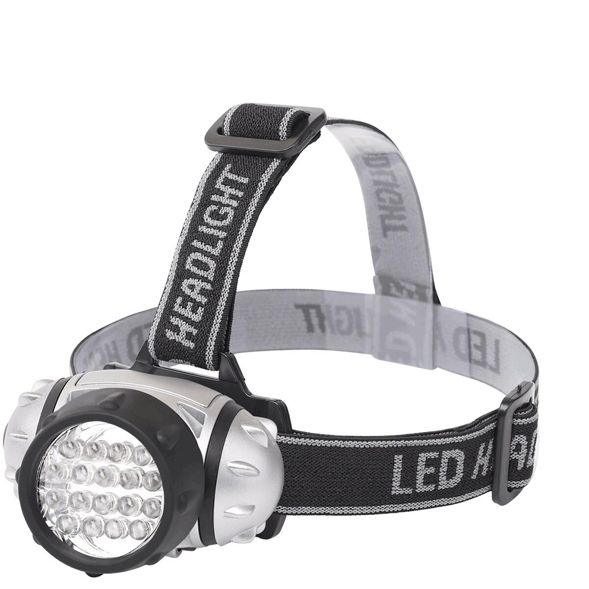 LED Hoofdlamp - Aigi Heady - Waterdicht - 35 Meter - Kantelbaar - 18 LED's - 1.1W - Zilver | Vervang