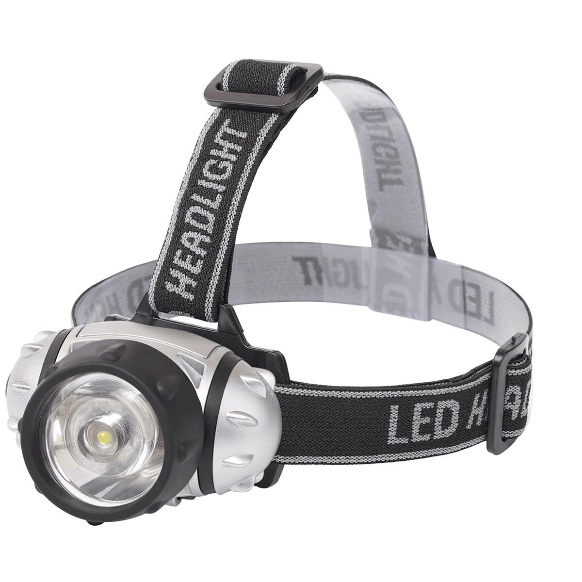 LED Hoofdlamp - Aigi Hitro - Waterdicht - 50 Meter - Kantelbaar - 1 LED - 1.8W - Zilver | Vervangt 1