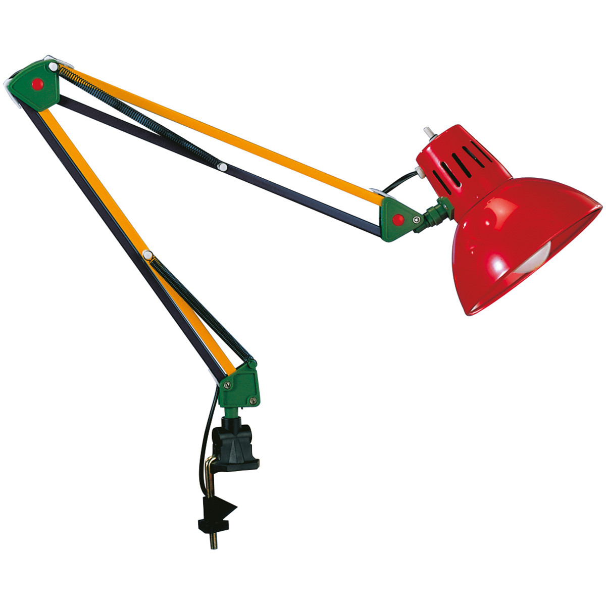 LED Klemlamp - Trion Tajin - E27 Fitting - Meerkleurig - Aluminium