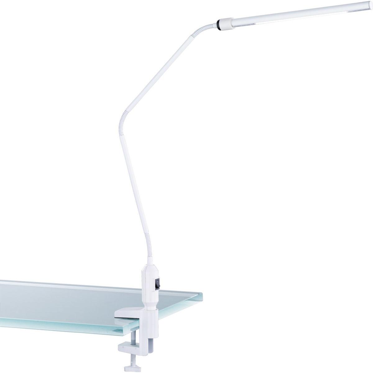 LED Klemlamp - Trion Vary - 3W - Warm Wit 3000K - Glans Wit - Aluminium