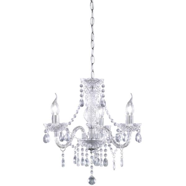 LED Kroonluchter - Trion Lucy - E14 Fitting - 3-lichts - Rond - Helder - Aluminium