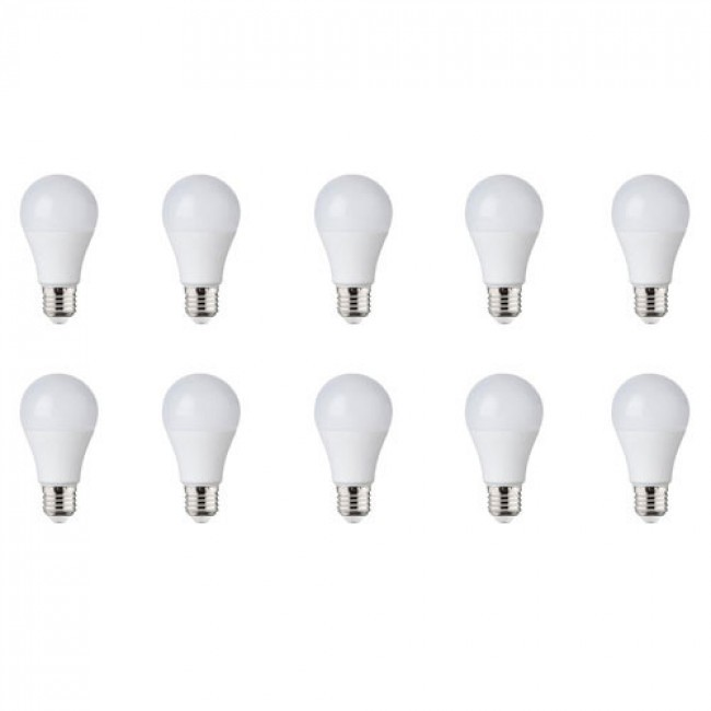 LED Lamp 10 Pack - E27 Fitting - 5W - Natuurlijk Wit 4000K