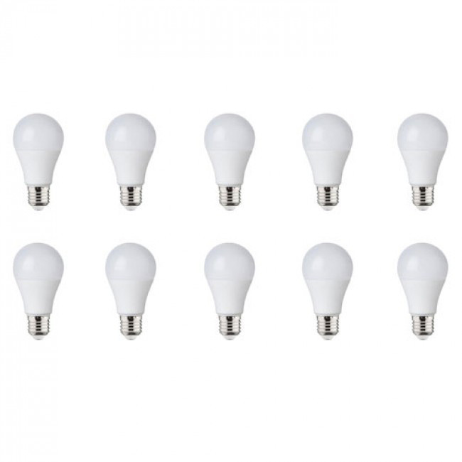 LED Lamp 10 Pack - E27 Fitting - 8W - Natuurlijk Wit 4200K
