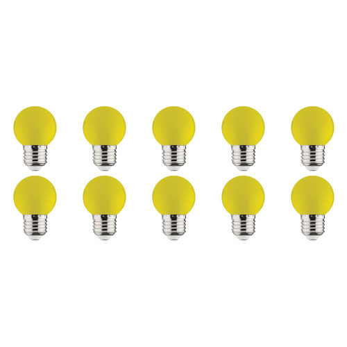 LED Lamp 10 Pack - Romba - Geel Gekleurd - E27 Fitting - 1W