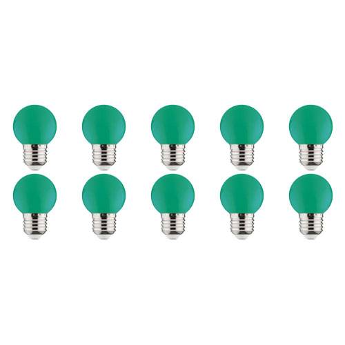 LED Lamp 10 Pack - Romba - Groen Gekleurd - E27 Fitting - 1W