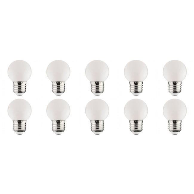 LED Lamp 10 Pack - Romba - Wit Gekleurd - E27 Fitting - 1W