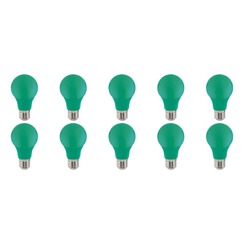 LED Lamp 10 Pack - Specta - Groen Gekleurd - E27 Fitting - 3W
