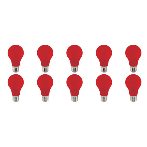 LED Lamp 10 Pack - Specta - Rood Gekleurd - E27 Fitting - 3W