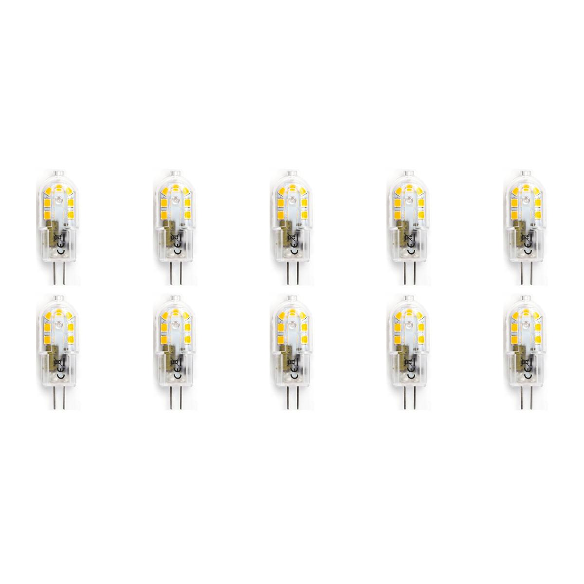 LED Lamp 10 Pack - Aigi - G4 Fitting - 2W - Helder/Koud Wit 6500K   Vervangt 20W