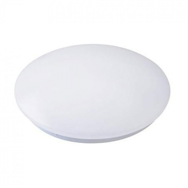 LED Plafondlamp - Basic - Opbouw Rond 15W - Helder/Koud Wit 6400K - Mat Wit Aluminium - Ø230mm