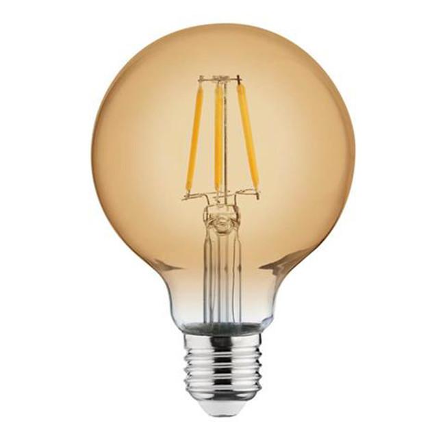 LED Lamp - Filament Rustiek - Globe - E27 Fitting - 4W - Warm Wit 2200K