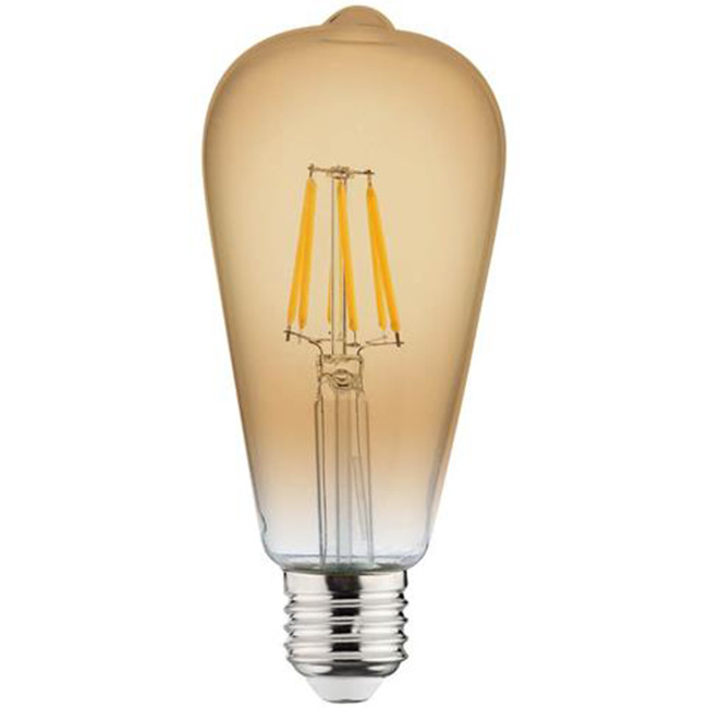 LED Lamp - Filament Rustiek - Vita - E27 Fitting - 6W - Warm Wit 2200K