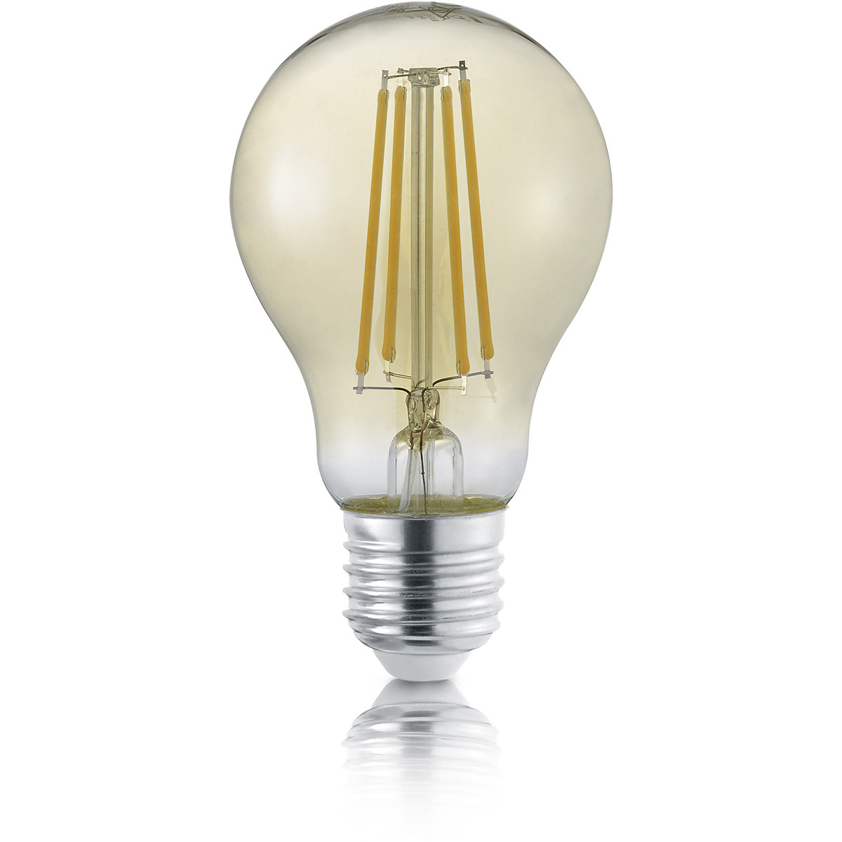 LED Lamp - Filament - Trion Limpo - E27 Fitting - 8W - Warm Wit 2700K - Amber - Glas