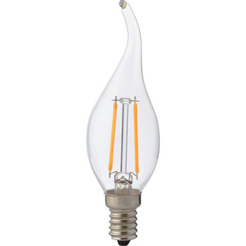 LED Lamp - Kaarslamp - Filament Flame - E14 Fitting - 4W - Warm Wit 2700K