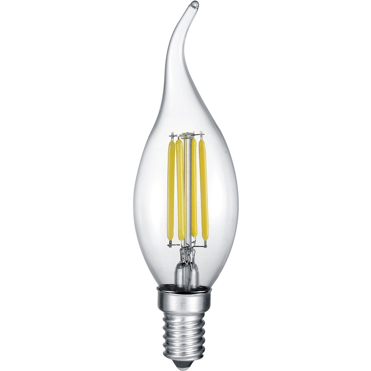 LED Lamp - Kaarslamp - Filament - Trion Kirza - 4W - E14 Fitting - Warm Wit 2700K - Dimbaar - Transp