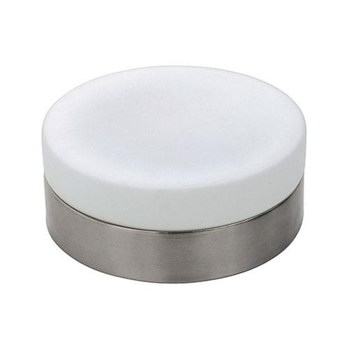 LED Plafondlamp - Opbouw Rond - E27 - Mat Chroom Aluminium - Ø180mm