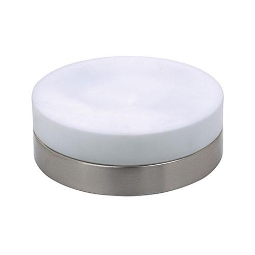 LED Plafondlamp - Opbouw Rond - E27 - Mat Chroom Aluminium - Ø235mm