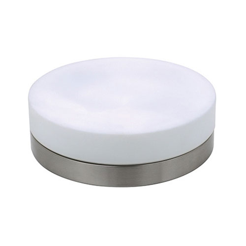 LED Plafondlamp - Opbouw Rond - E27 - Mat Chroom Aluminium - Ø285mm
