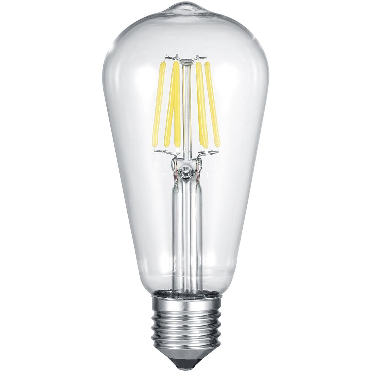 LED Lamp WiZ - Smart LED - Trion Akusti - E27 Fitting - 6W - Slimme LED - Dimbaar - Nachtlicht - Tra