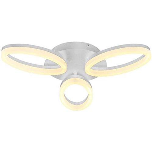 LED Plafondlamp - Plafondverlichting - Avantgarde - 24W - Natuurlijk Wit 4000K - Wit Aluminium