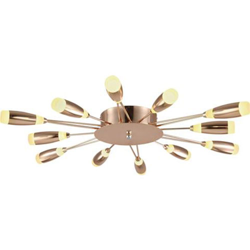 LED Plafondlamp - Plafondverlichting - Fave - 62W - Natuurlijk Wit 4000K - Koper Aluminium