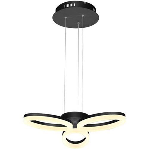 LED Plafondlamp - Plafondverlichting - Luxury - 24W - Natuurlijk Wit 4000K - Zwart Aluminium