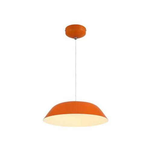 LED Plafondlamp - Plafondverlichting - Primo - 6W - Natuurlijk Wit 4000K - Oranje Aluminium