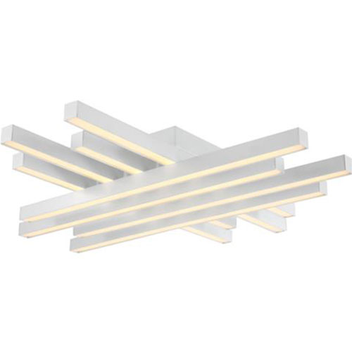 LED Plafondlamp - Plafondverlichting - Trendy - 85W - Natuurlijk Wit 4000K - Wit Aluminium