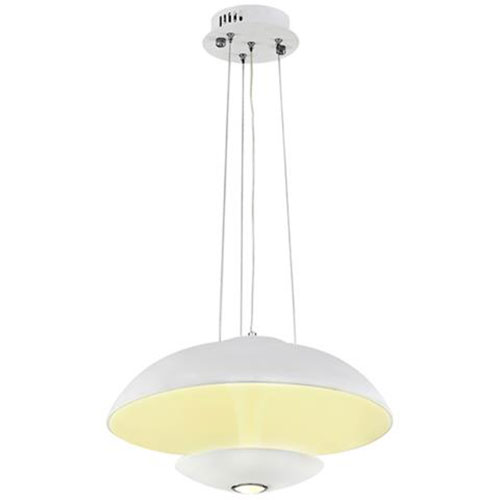 LED Plafondlamp - Plafondverlichting - Viesta - 24W - Natuurlijk Wit 4000K - Wit Aluminium