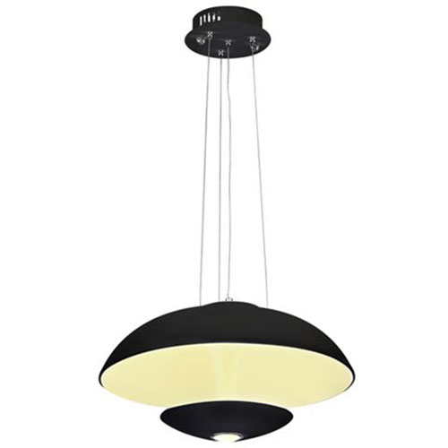 LED Plafondlamp - Plafondverlichting - Viesta - 24W - Natuurlijk Wit 4000K - Zwart Aluminium